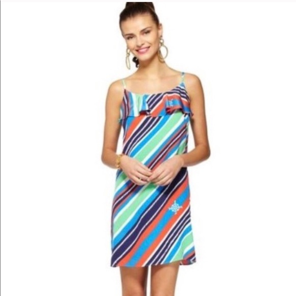 Lilly Pulitzer Dresses & Skirts - Lilly Pulitzer Laya Silk Dress in overboard stripe